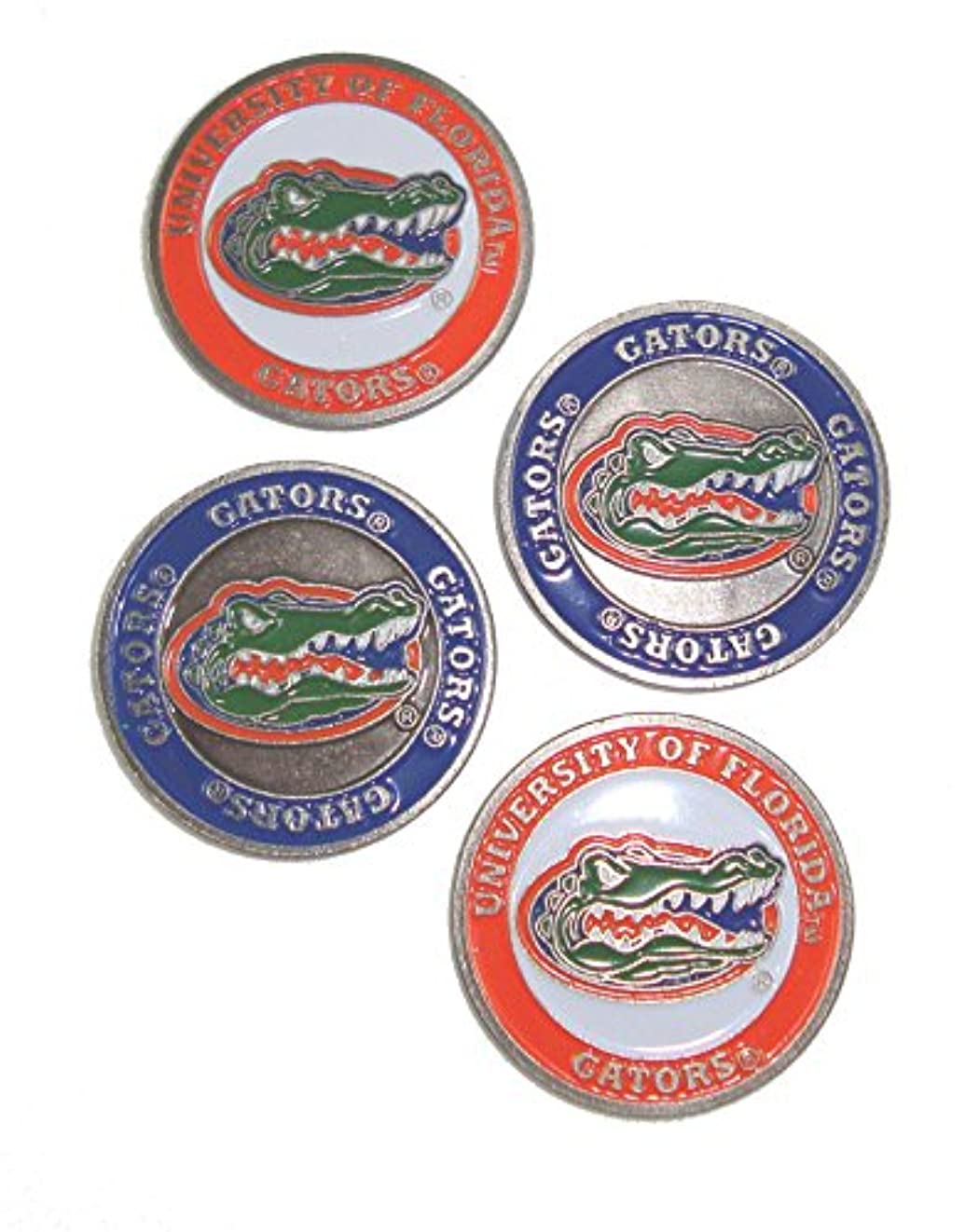 小数神学校豆腐Florida Gators両面ゴルフボールマーカー( Set of 4 )