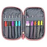 Sumnacon 手芸 編み針 45点セット 9本カギ針 ほつれ止め 段数リングなど 編み物 セーター マフラー 帽子 DIY クラフト 工具 ケース付き