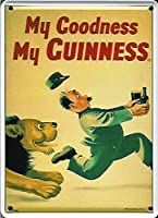 Guinness Lion metal postcard/mini-sign (hi pt)