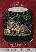 Hallmark Keepsake Ornament Majestic Wilderness Timber Wolves at Play 1998 QX6273 [並行輸入品]