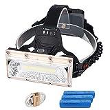 COB LEDヘッドライト USB 充電式 強力 ヘッドライト 防災 防水 特化型 釣り アウトドア用 ヘッドランプ 3モード 高輝度 広範囲 防塵 作業灯 登山 照明 釣り ランニング 夜釣り キャンプ ヘルメットライト ランタン 18650リチウムイオン電池式PSE 認証済