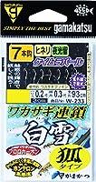 がまかつ(Gamakatsu) ワカサギ連鎖 白雪 狐 7本 W233 1.5-0.2.