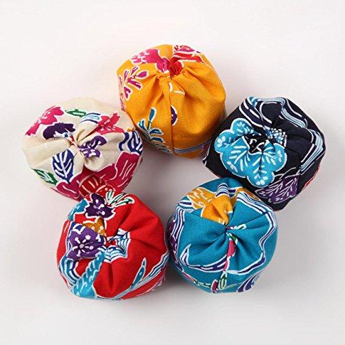 手作りお手玉 紅型柄(びんがた) 5個入り 沖縄伝統工芸の高級生地使用