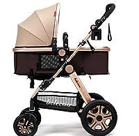 YDベビーカー 赤ちゃんのベビーカーはリクライニング折りたたみ式のライトポータブル高地ショック/プッシュチェア (色 : 40センチメートル-24ワット)