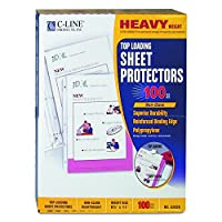 C-Line Top Loading Heavyweight Poly Sheet Protectors, Non-Glare, 8.5 x 11 Inches, 100 per Box (62028) [並行輸入品]