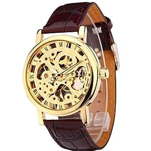 GuTe出品&スケルトン&ビンテージ&ゴージャス&ゴールド彫り&ペアウォッチのレディース&手巻き腕時計