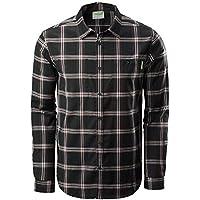 Kathmandu Tomar Men's Slim Fit Merino Full Button Checked Long Sleeve Shirt