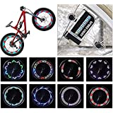 14 LED Bike Wheel Light Waterproof LED Bicycle Spoke Light 30 Different Patterns Change Visible Bike Accessories - Easy to In