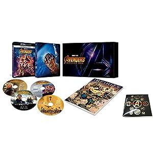 【Amazon.co.jp限定】アベンジャーズ/インフィニティ・ウォー 4K UHD MovieNEXプレミアムBOX(数量限定) オリジナルピンバッヂセット付 [4K ULTRA HD + 3D + Blu-ray + デジタルコピー+MovieNEXワールド]