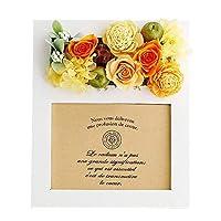 パラボッセオリジナル プリザーブドフラワー フォトフレームプリザ カンパーニュ オレンジ preserved flowers