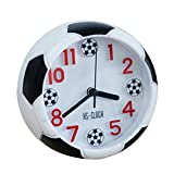 SODIAL クリエイティブフットボール目覚まし時計デスクトップ目覚まし時計学生用デスクトップ目覚まし時計ラウンド目覚まし時計デジタルテーブルクロックデジタルポインタクロック