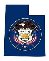 Larger Than Life Prints 762988907367Utah State Flag Decal