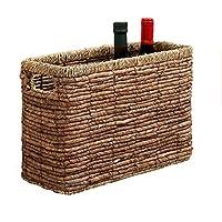 籐製の収納バスケット織物収納ボックス(インサート付き)