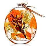 ハーバリウム (植物標本) Mサイズ (オレンジ) スプリングカントリーハウス FUJITAYA