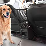 Car Dog Barrier Vehicle Backseat Mesh Universal Obstacle Stretchable Front Seat Pet Barrier Net Organizer Auto Backseat Storage Prevent Disturb Stopper from Children Dogs for SUV (11.50 In x 10.43 in)