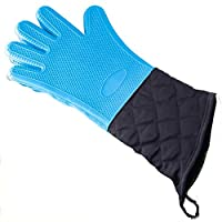 長いシリコーン手袋高温シリコーン絶縁手袋電子レンジオーブンやけ防止防水 Miyabitors (Color : C)