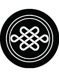 家紋シール 陰輪に宝結び紋 布タイプ 直径40mm 6枚セット NS4-0232