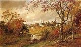 Jasper Francis Cropsey Autumn Landscape–Saugerties、ニューヨーク 52x30