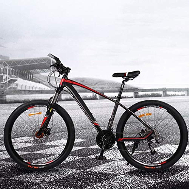 デモンストレーションしたがって避難マウンテンバイク 26インチ アルミフレーム 30段変速 フルサスペンション大人の自転車、男の子と女の子の自転車