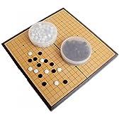 Amateras 囲碁 囲碁盤 セット 折りたたみ式 ポータブル マグネット石 大盤 37×37cm 初心者 プロ 兼用 【AM357】
