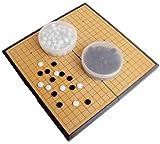 Amateras 囲碁 囲碁盤 セット 折りたたみ式 ポータブル マグネット石 大盤 37×37cm 初心者 プロ 兼用 【AM357】.