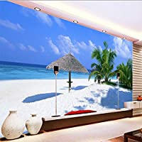 Xueshao カスタム3D壁紙モダンビーチシースケープリビングルームベッドルームテレビの背景装飾壁壁画壁紙3D-200X140Cm