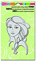 """Stampendous CRR247 Beautiful Braid Cling Stamp, 7.75"""" by 4.5"""", Grey"""
