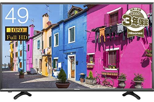 ハイセンス 49V型 フルハイビジョン 液晶テレビ 外付けHDD裏番組録画対応 メーカー3年保証 HJ49K3121