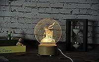 3d LEDクリエイティブランプUSB彫刻ランプwith音楽ボックス Lioong