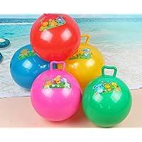 HuaQingPiJu-JP 子供の遊びボールベビー漫画ハンドルボールインフレータブルソーンボールインフレータブルボールのおもちゃ