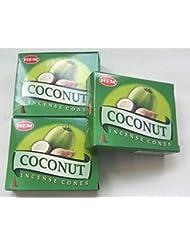 HEM(ヘム)お香 ココナッツ コーン 3個セット