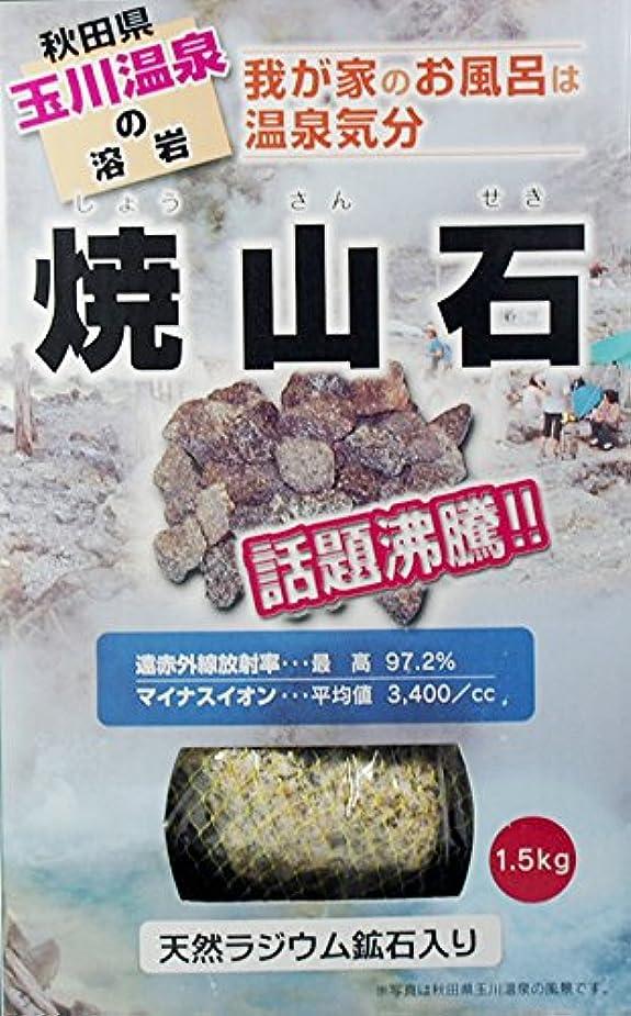 蘇生するサスペンション来て【秋田玉川温泉湧出の核、焼山の溶岩】焼山石1.5kg(国産ラジウム鉱石混入)【お風呂でポカポカに】
