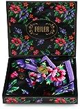 (フェイラー)FEILER 【Amazon正規品】ポピーズ ギフトセット(ハンカチ&ミニトート) 137707300003190 19 黒 (約)25×25cm、ミニトート:(約)タテ20×ヨコ17×マチ5cm、ギフトボックス:(約)19.5×20×3.5㎝