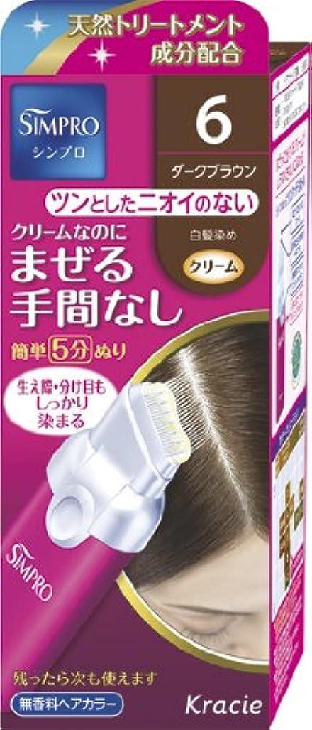 癒す豪華な表現シンプロ ワンタッチ無香料ヘアカラー 6