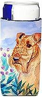 Caroline 's Treasures 7007-parent Airedale Terrier in花Ultra Beverage Insulators forスリム缶7007MUK、、マルチカラー Slim 7007MUK