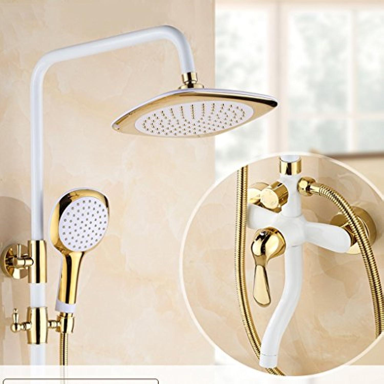 LJ ヨーロッパスタイルの白すべての青銅のシャワーセットレトロ蛇口 ( サイズ さいず : A1 )