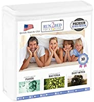 (Full) - Full Size LUXURY Turkish Cotton 100% Waterproof Hypoallergenic Mattress Protector Terry Cover - Rapid Cool Tech - Vinyl Free - 10 Year Warranty by Run2Bed