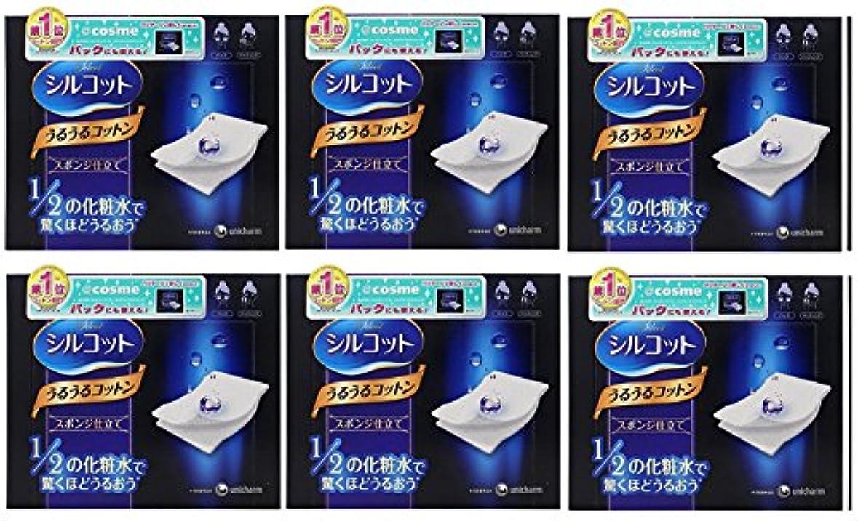 サイトライン取り壊すクラシック【セット品】シルコット うるうるスポンジ仕立て(40枚入)x6