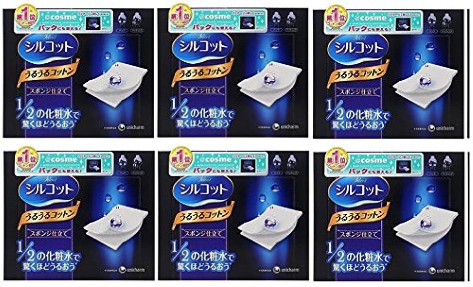 触覚派手文字通り【セット品】シルコット うるうるスポンジ仕立て(40枚入)x6