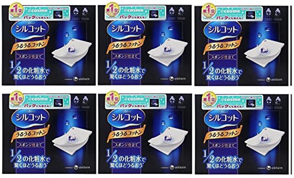 タッチテクスチャー含める【セット品】シルコット うるうるスポンジ仕立て(40枚入)x6
