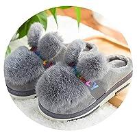 子供の家の綿のスリッパぬいぐるみボール32柔らかい底滑り止め暖かい30屋内34子供の冬の綿の靴,34〜35ヤード(33〜34に適しています),リボングレー