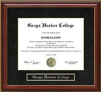 Grays Harbor College (GHC) 卒業証書フレーム wa-ghc-91-maho