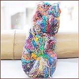 裂き織り糸 サリーシルク糸 【グラム当たり10円の 175gカセ】 インド・ネパールのサリー裂き糸