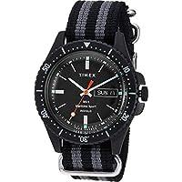 Timex メンズ トッドスナイダー マリティム スポーツ 41mm One Size ブラック/グレー