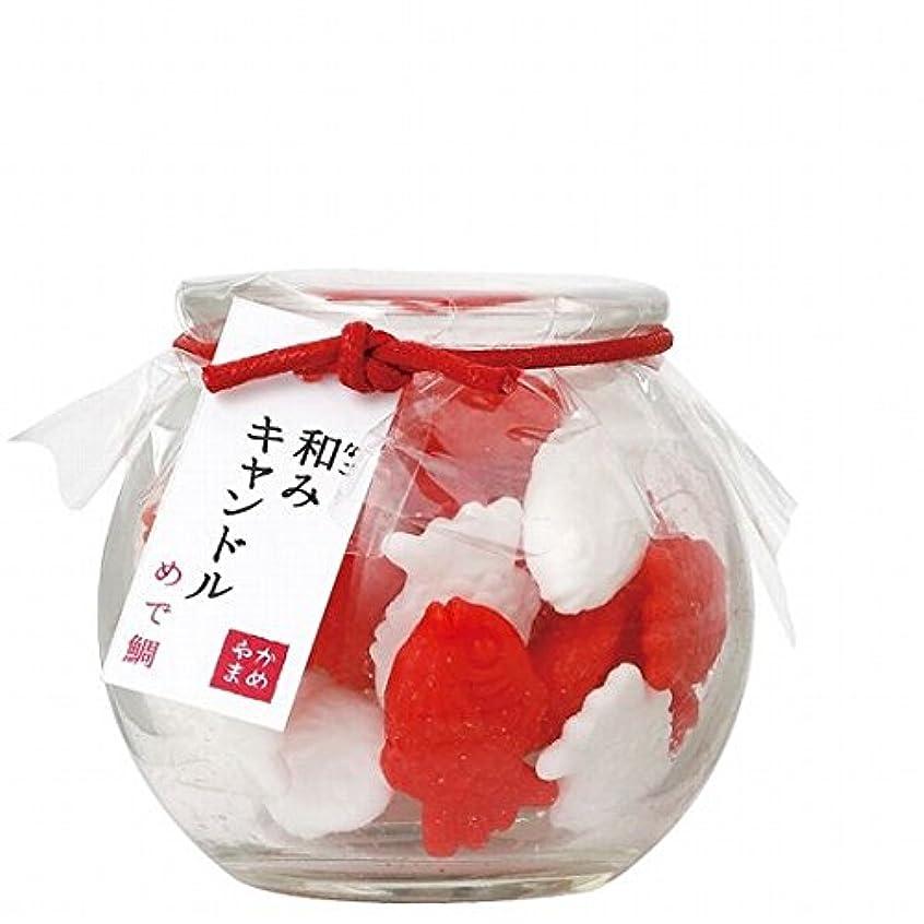 ガイドラインオーバーランと遊ぶカメヤマキャンドル(kameyama candle) 和みキャンドル 「めで鯛」