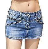 ( マゴット ) Maggot デニム ショートパンツ レディース きれいめ 選べて嬉しい 3タイプ 5サイズ ミニスカート ではありません (M サイズ B タイプ )