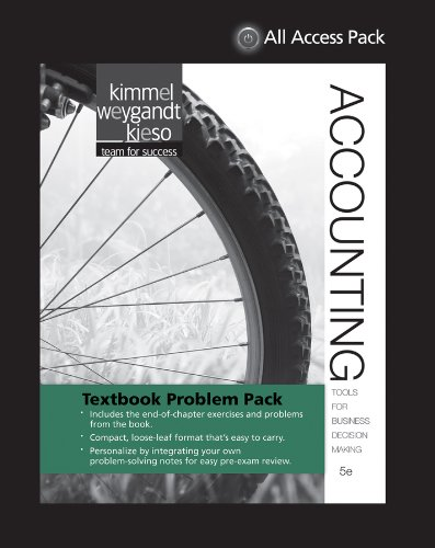 Download Textbook  Problem Pack - Kimmel, Accounting 5e 111849055X