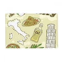 イタリア景色ピサの斜塔 アンチスリップマット浴室床カーペットをリビングルーム・キッチン扉16 x 30とquot ; quot ;ギフト