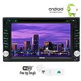 EinCar Android 6.0カーナビ 汎用型2din 車載用DVD CDプレーヤー GPS Wifi/3G/4Gホットスポット Bluetooth+ラジオレシーバ 1GB CPU DDR3 静電式タッチパネル カーステレオ ミラーリング対応+無料3Gドングル
