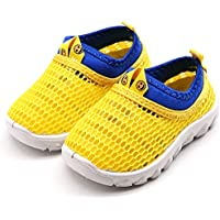 Namektch Boys Girls Water Shoes, Breathable Mesh Running Sneakers Sandals Lightweight Slip-on Walking Shoes for Toddler Kids Pool Beach Sports